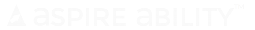 AspireAbility Name & Logo TM WHITE